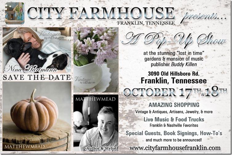 City Farmhouse Pop Up Show