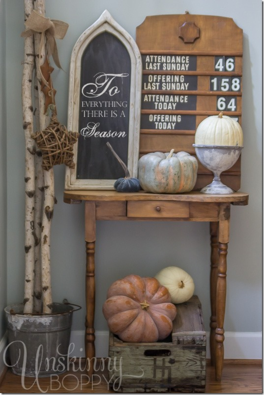 Pretty Fall Decorating Ideas-To everything there is a season