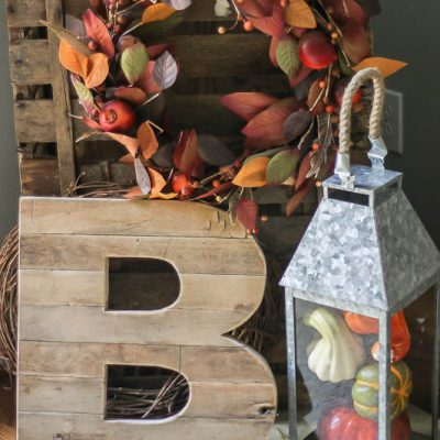 New Favorite: Reclaimed Wood Initials from Urban Farmgirl