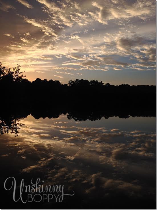 Sunset over Alabama