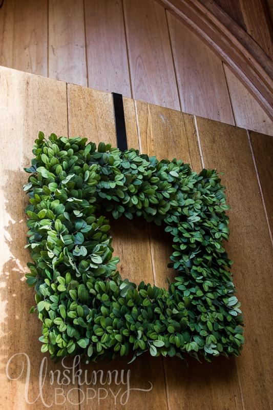 Balsam hill square boxwood wreath