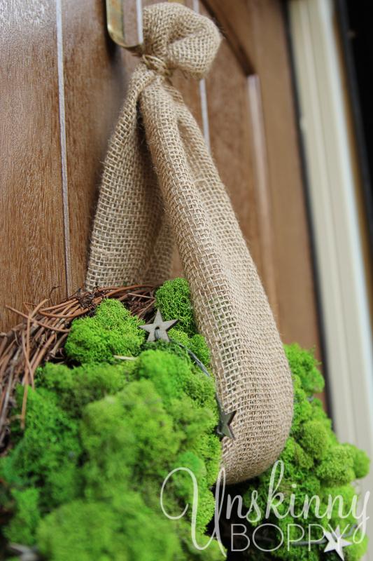burlap ribbon for wreath holder