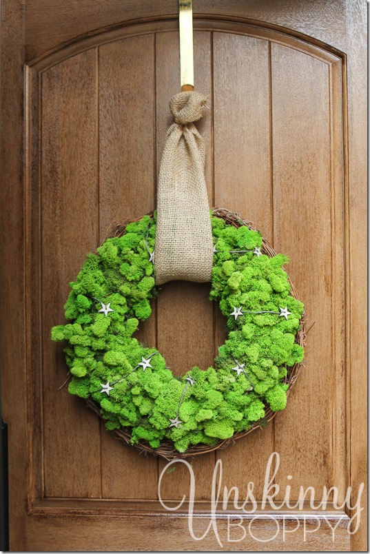 DIY Reindeer Moss Wreath-19
