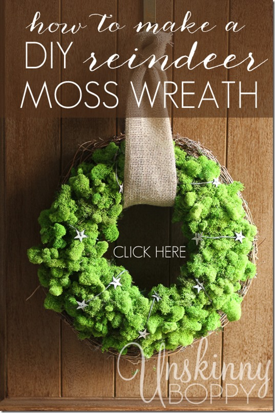 How to make DIY Reindeer Moss Wreath