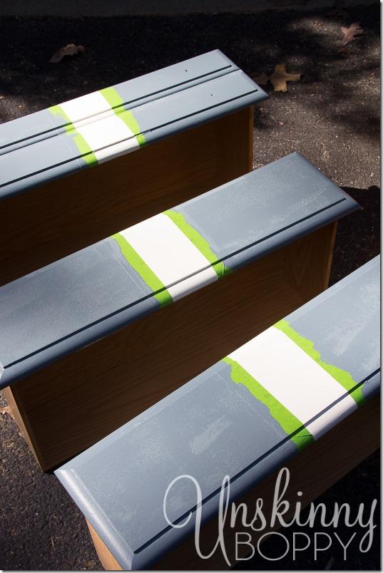 How to paint stripes on furniture-7
