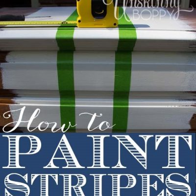 How to Paint Stripes on Furniture with Glidden Paint
