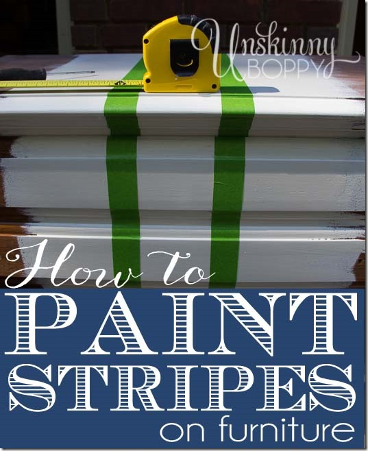 How to paint stripes on furniture with glidden paint - Painting stripes on furniture ...