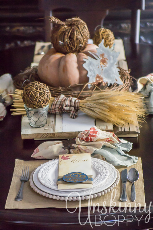 Thanksgiving Tablescape with custom menu placecards-4