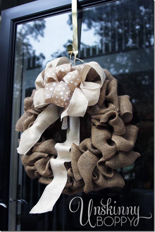 burlap wreath by Blankenship Farms