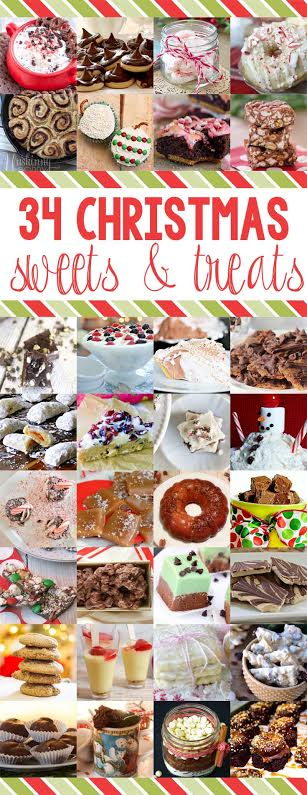 34 sweets and treat for the holiday baking ideas