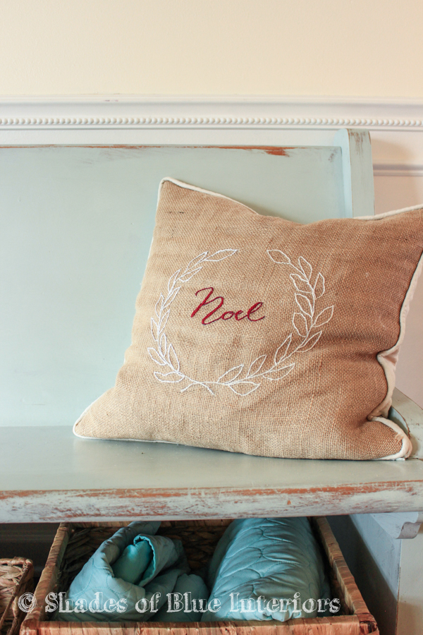 Noel burlap pillow
