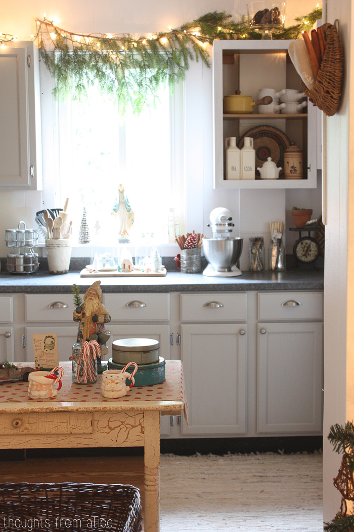Gray-Kitchen-Decorated-for-Christmas