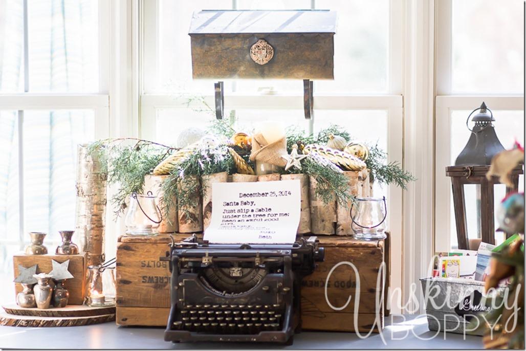 Vintage typewriter with letter to Santa