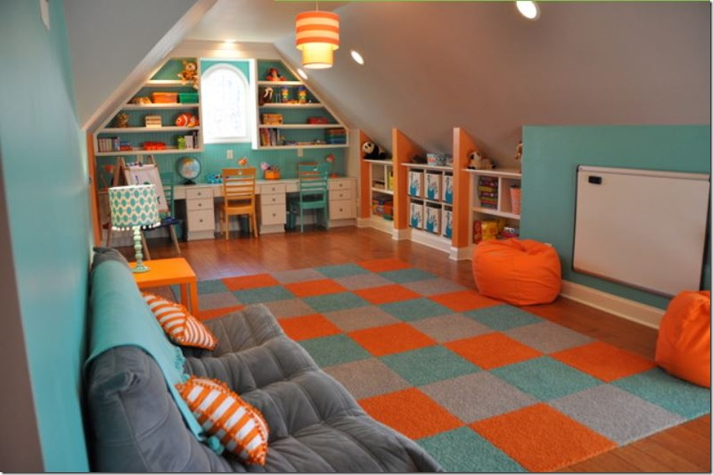 awesome attic playroom