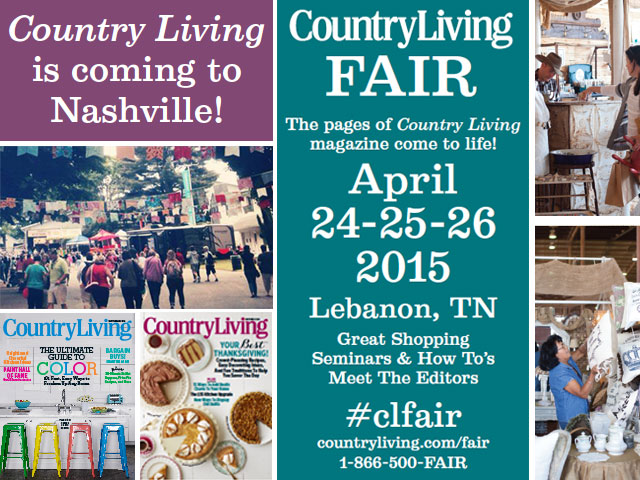 Giveaway weekend passes to the nashville country living for Country living sweepstakes april 2016
