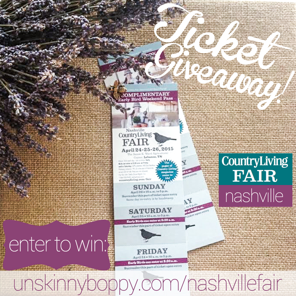 Nashville Country Living Fair Ticket Giveaway copy