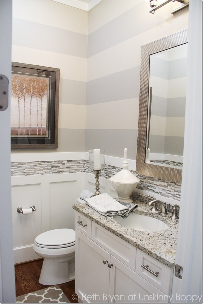 Five home decorating trends from the 2015 parade of homes - Half bath decor ideas ...