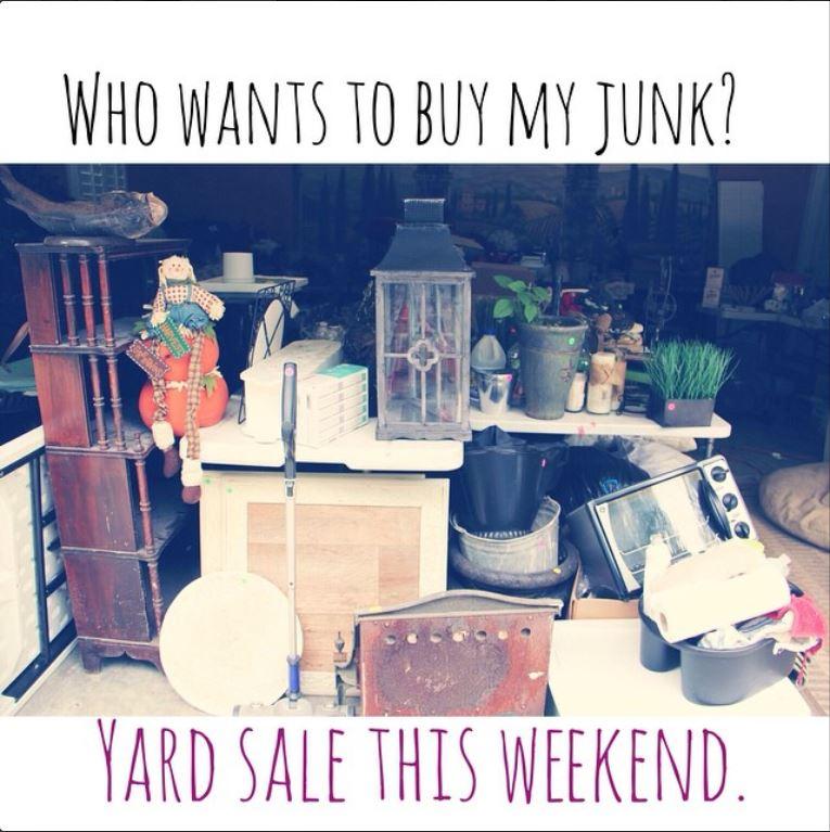 yard sale junk