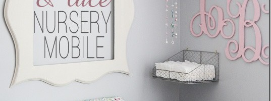 DIY Ribbon and Lace Nursery Mobile