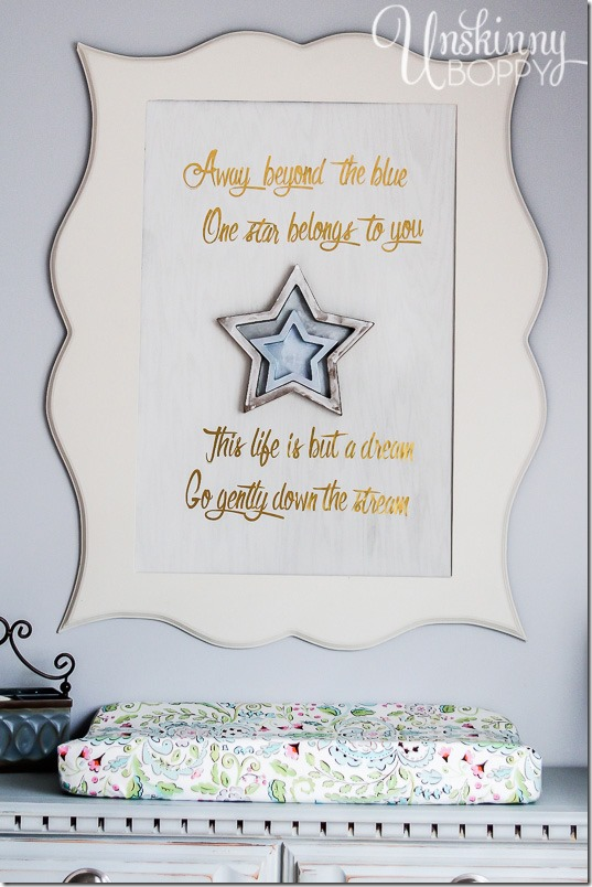 DIY nursery sign stars-2