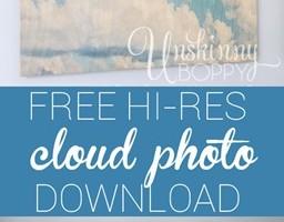 Cloud Artwork in the Nursery