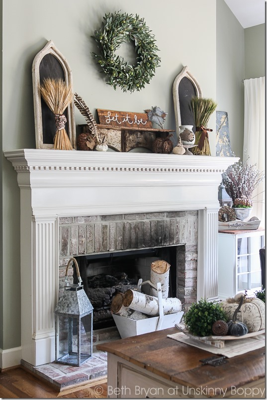 Fall Mantel Decor-2