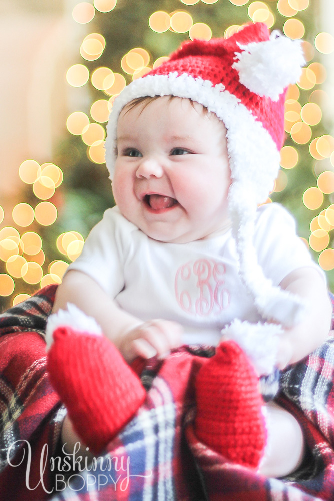 Baby's First Christmas pic idea