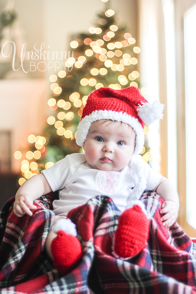 Cute baby's First Christmas pic ideas