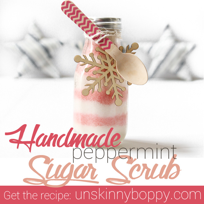 peppermint sugar scrub square