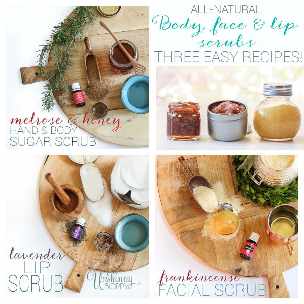 Body face and lip Scrub Collage