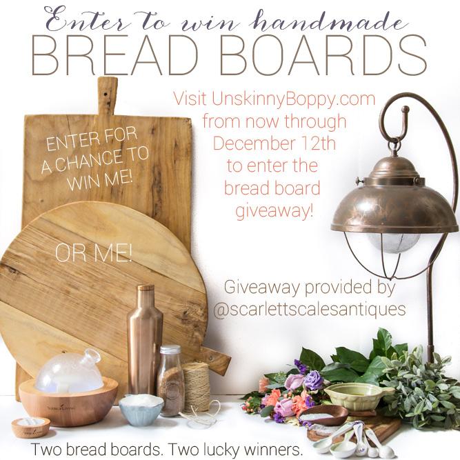 Handmade Bread Board giveaway