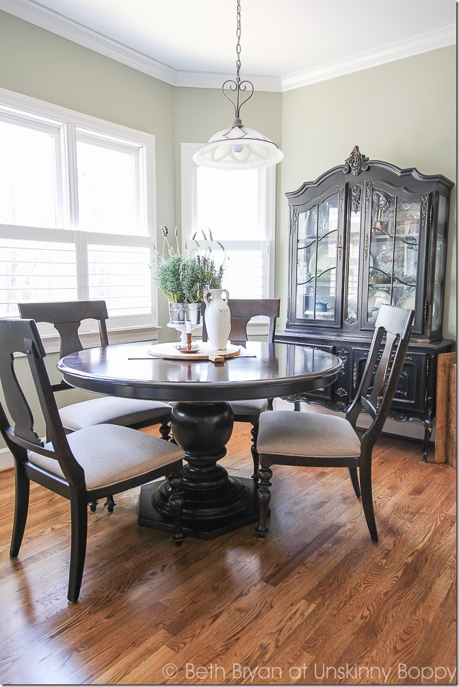 Eat in kitchen table with pretty china cabinet