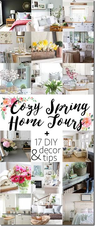 Cozy Spring Home Tours + 17 DIY & Decor tips | www.unskinnyboppy.com