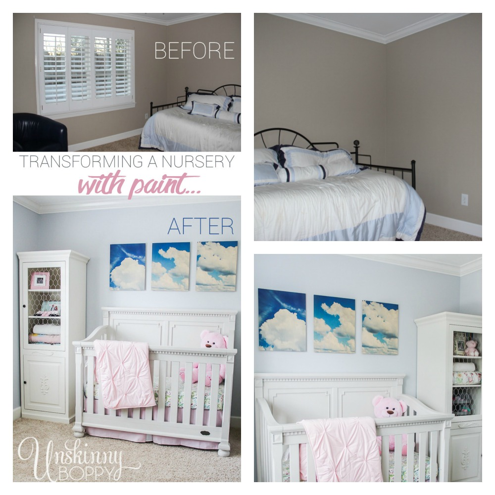 Transforming a nursery with paint