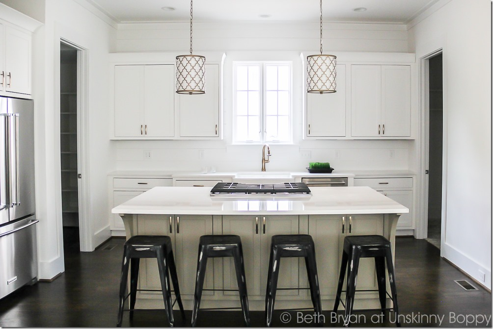 symmetrical kitchen island