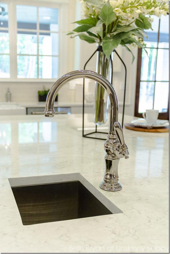 small sink in kitchen island