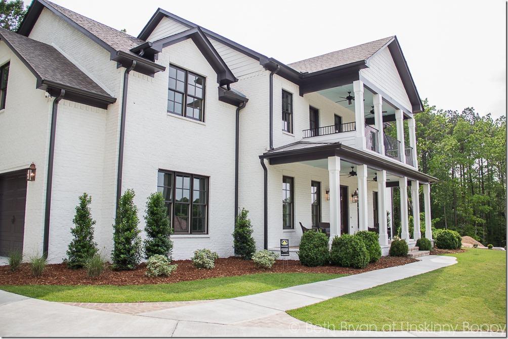 White house bronze trim