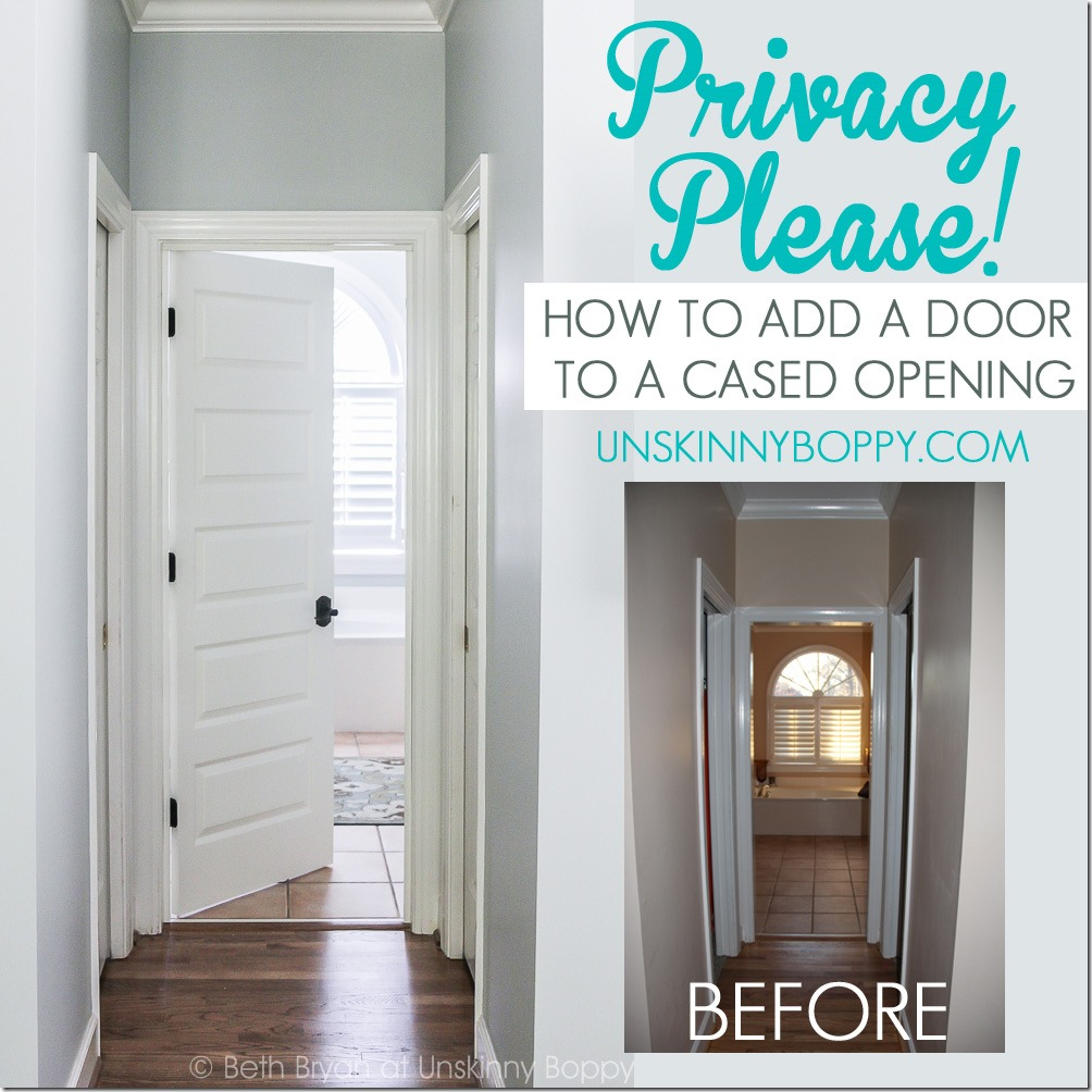 HOW TO ADD A DOOR TO A CASED OPENING