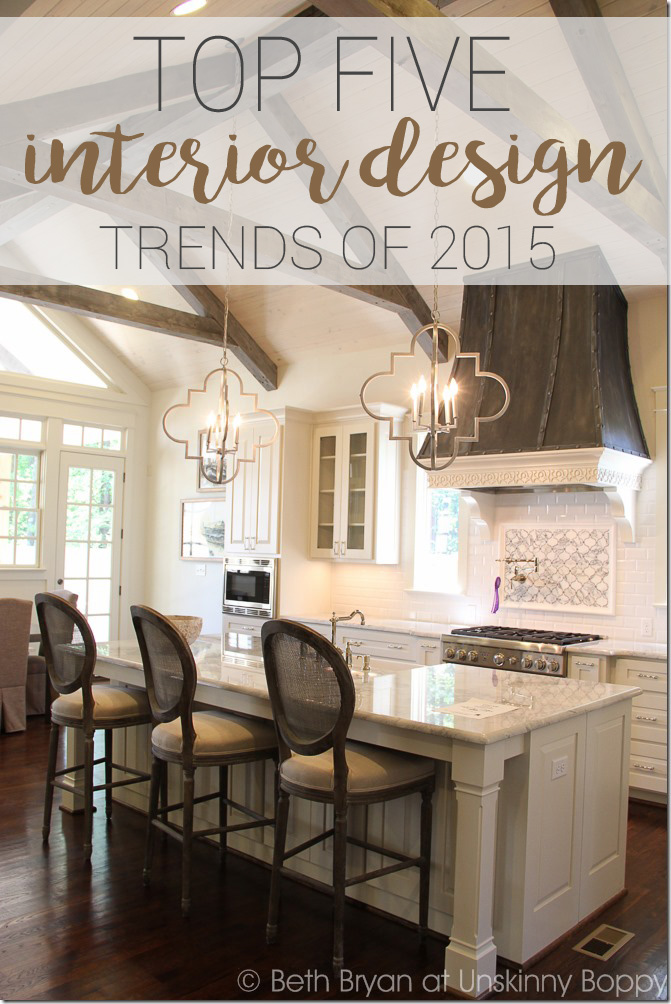TOP FIVE INTERIOR DESIGN TRENDS OF 2015