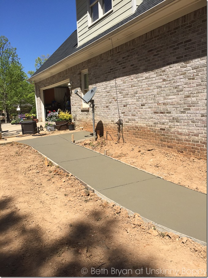 New sidewalk poured-2