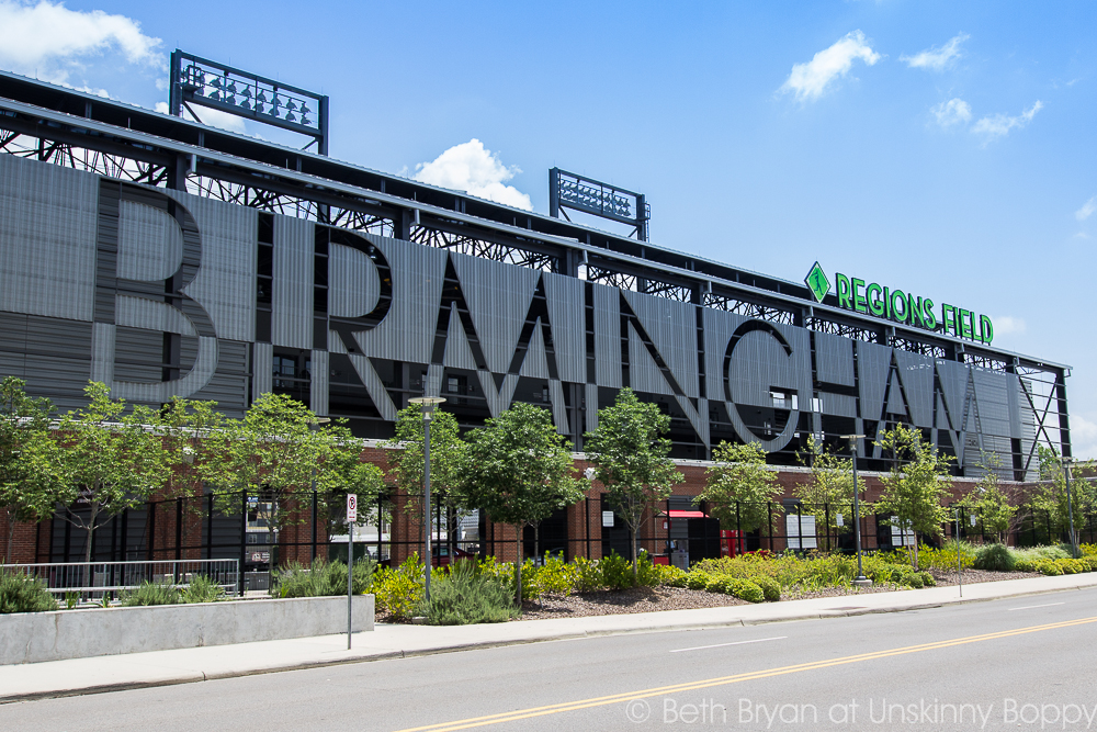 Regions Park in Birmingham, AL- Home of the Birmingham Barons | Photo by Beth Bryan | www.unskinnyboppy.com