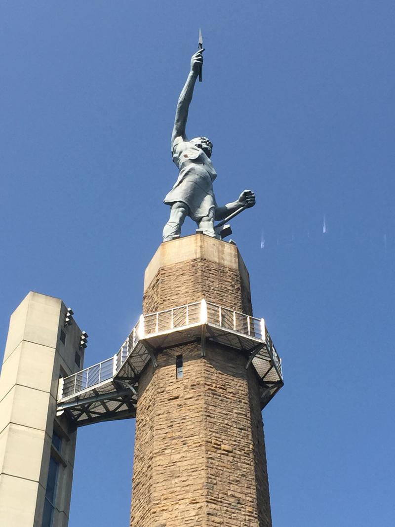 Vulcan overlooks Birmingham from Red Mountain