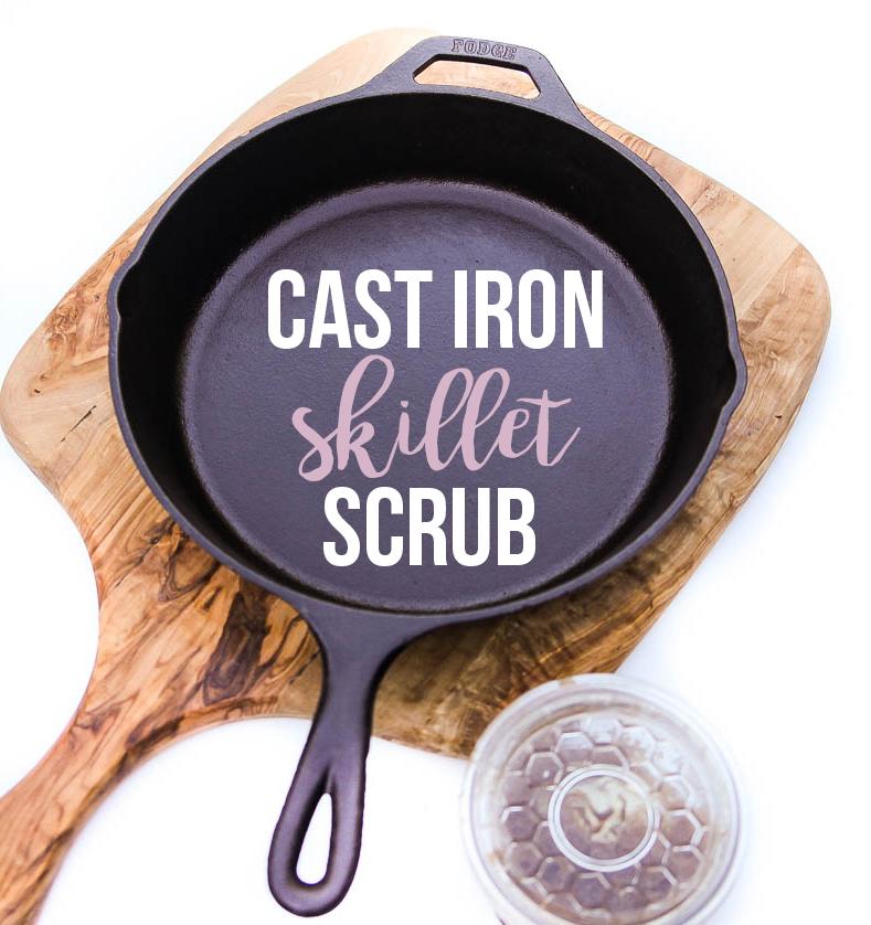 cast iron skillet scrub