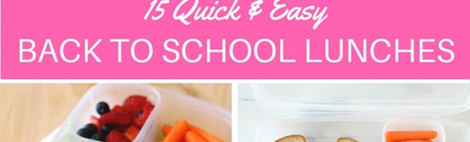 15 Quick & Easy Back to School Lunch Ideas