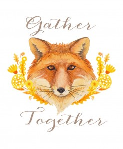 "Fall ""Gather Together"" fox free printable"