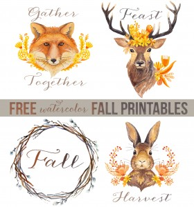 gather feast harvest fall printables