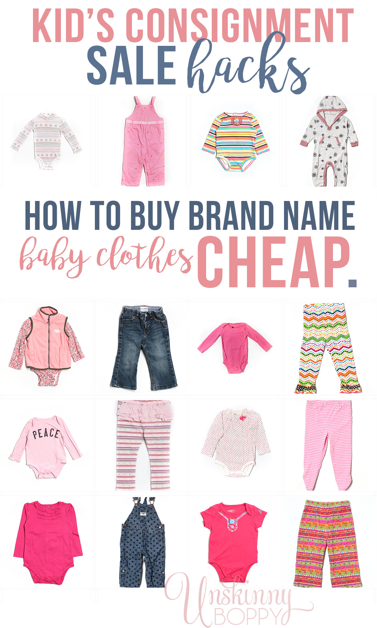 how to baby clothes cheap Unskinny Boppy