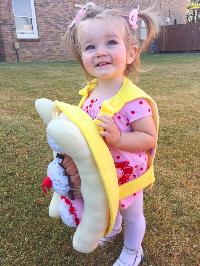 Banana Split Halloween Costume for Preschool