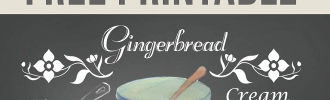 The Gingerbread Tradition {and a Free Printable}
