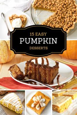 Pumpkin Dessert ideas
